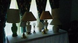Lamps, vintage and Modern