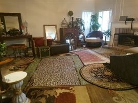 rugs, rugs, and more area rugs