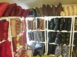 pillows, leather, silk, down pillows