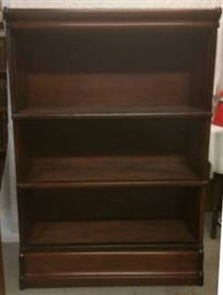 3 shelf lawyer bookcase