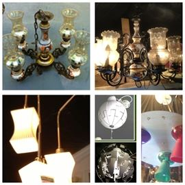 All chandeliers $75 each