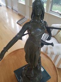 Bronze Drouot Sculpture 9W7D25H
