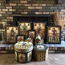 Playing card theme decor. Perfect for game room or man cave.