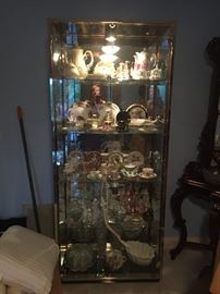 glass cabinet blue room