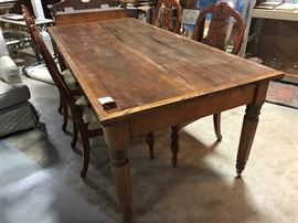 Primitive farm table
