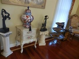 Various Pedestals, Occasional Tables