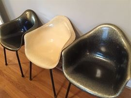Black & White Eames Herman Miller chairs
