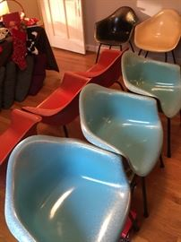 Blue & red Eames Herman Miller chairs