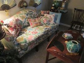 Beautiful floral print sofa