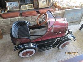 Repro antique pedal car