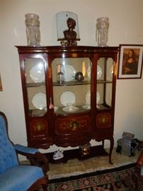 French Style  Curio/China Cabinet
