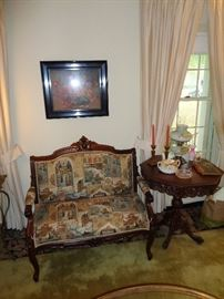 Lovely Settee and Carved table