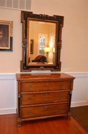 "Magnificent Drawer Chest 45""x20""x36""HT              Mirror  36""x48""HT"