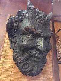 Life Size Greek Mythology Plaster Sculpture of Pan life