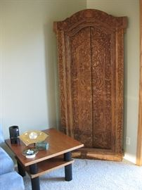 Carved Asian antique door