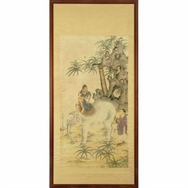 LOT 717 CHINESE SCROLL PAINTING