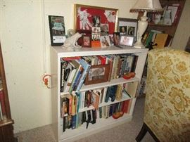BOOK SHELVE AND BOOKS