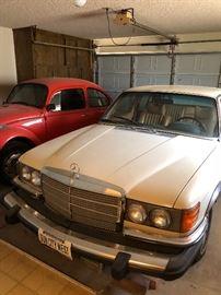 Vintage 1980 Mercedes and 1971 Volkswagon Beetle