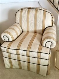 Upholstered chairs-pair