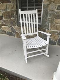 2 wood Rocking Chairs