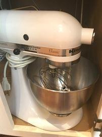 White Kitchenaide Classic Mixer