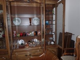 collection of glassware, crystal, apples