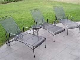 3 Chaise Lounge Chairs