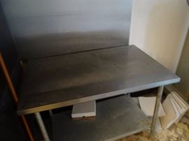 38''x40'' Fully Stainless Worktop Table