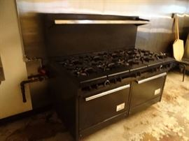 60'' (10) Burner Stove Top With Double Oven Below