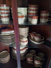 Whole set of Mikasa stoneware