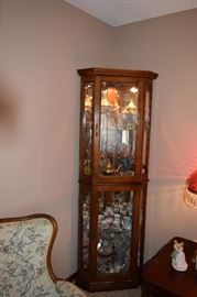 "Pulaski Lighted Corner Curio Cabinet 76"" Tall"