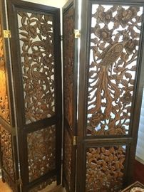 Asian wood screen