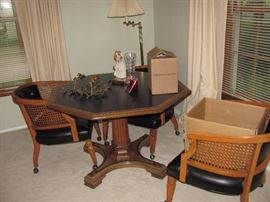 Game table with 4 chairs. great condition