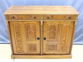 "Rococo Style Carved Buffet, Made In England, 51""W x 40""H x 19.5""D"