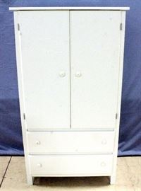 "Sauder Furniture Wardrobe Armoire, 35""W x 66""H x 20""D, Cosmetic Flaws, Paint Scuffs, Glue/Paper Residue on Front and Sides"