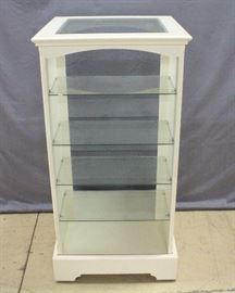 "Double-Sided 5-Tier Display Case, Glass Top, 27""W x 54""H x 27""D"