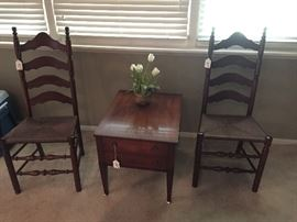 End tables chairs