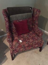 redfloral chair