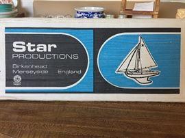 Collectible English mk/3 sailboat in origional box