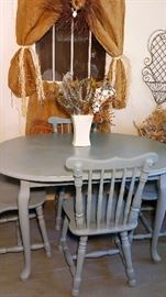 teal table chairs