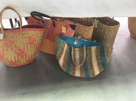 Baskets from Costa Rica and Morocco.  Great for toting your stuff around.