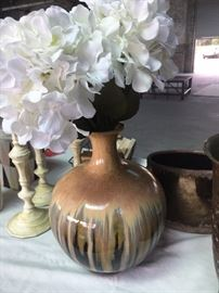 Clay pottery vases.