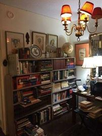 Books and prints. Lighting. Decorative plates.