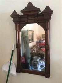 #9	vintage carved wood  Mirror   24x47	 $120.00