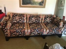 "#11	Asian Style Sofa Gilliam  87"" Wide	 $200.00"