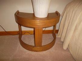 demilune teak nightstands or end tables