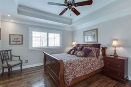 Queen size bed, with Dresser, two night stands, chest and mirror. (mattresses and bedding included)