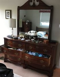 Basset triple dresser. Matching tall dresser and night stand for sale also.