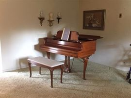 Kimball baby grand piano...just lovely!