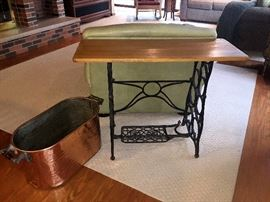 Brass tub - Sewing table